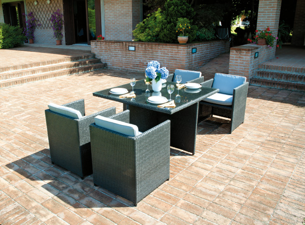 Salottino rattan coffee set djerba divano poltrone tavolo